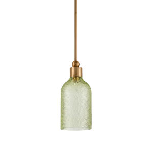 Gold One-Light 8-Inch Mia Pendant