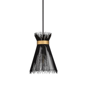 Black One-Light 16-Inch Quimby Pendant