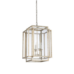 Silver Four-Light 17-Inch Amherst Chandelier