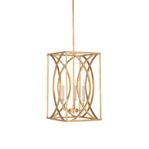 Gold Three-Light 12-Inch Society Hill Chandelier