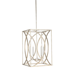 Silver Four-Light 16-Inch Society Hill Chandelier