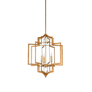 Gold Three-Light 18-Inch Dover Chandelier