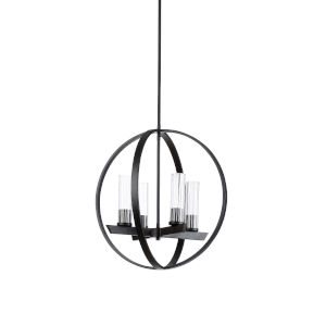 Black Four-Light 20-Inch Dylan Chandelier