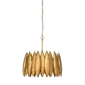 Gold Four-Light 21-Inch Ryland Chandelier