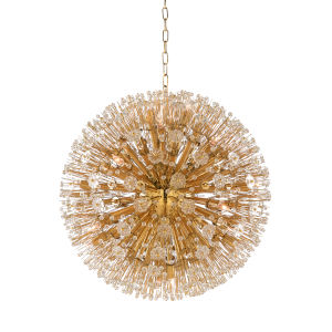 White and Gold 16-Light 26-Inch Large Lolita Chandelier