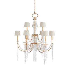Gold Nine-Light 40-Inch Mackie Chandelier