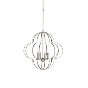 Nickel Four-Light 24-Inch Lola Chandelier
