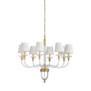 Gold Eight-Light 30-Inch Salon Chandelier