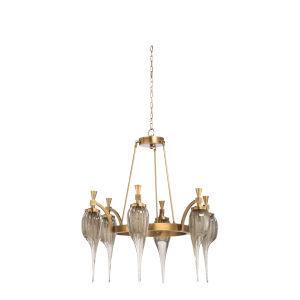 Brass Six-Light 33-Inch Aiden Chandelier