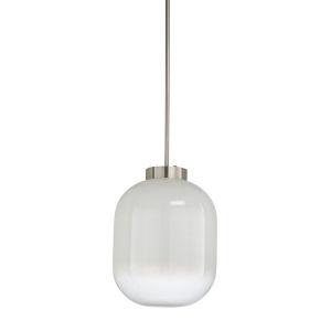Nickel One-Light 17-Inch Subway Pendant
