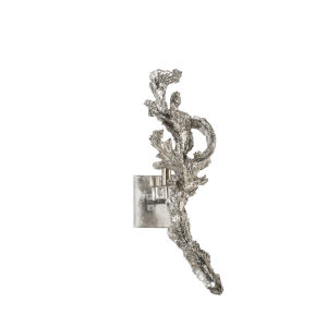 Silver One-Light 7-Inch Left Greer Sconce