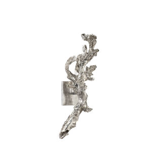 Silver One-Light 7-Inch Right Greer Sconce
