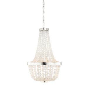 White Six-Light 22-Inch South Fork Chandelier