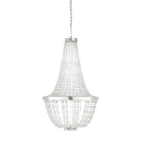 White Six-Light 26-Inch South Fork Chandelier