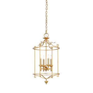 Gold Four-Light 15-Inch Brighton Lantern