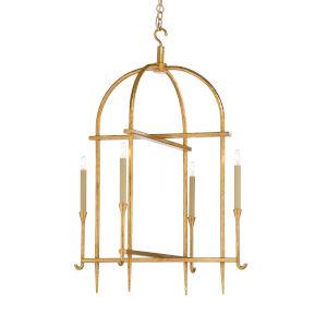 Gold Four-Light 26-Inch Diego Lantern