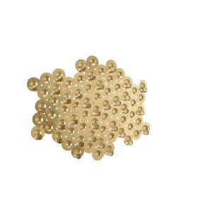 Gold Six-Light 31-Inch Brera Flush Mount
