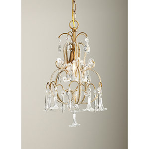 Crystal One-Light Temple Chandelier