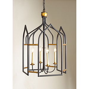 Black Four-Light Seville Lantern