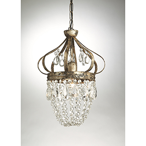 Crystal One-Light Dunsmore Pendant
