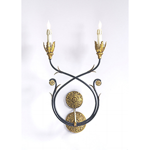 Black One-Light Burkhart Sconce