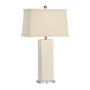 Cream One-Light Becker Vase Lamp