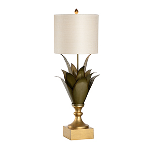 Gold One-Light Large Agave Table Lamp