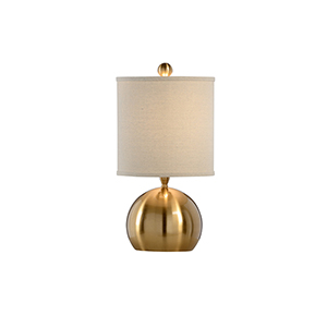 Brass One-Light Small Table Lamp