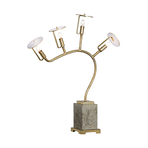 Bradshaw Orrell Gray Four-Light Table Lamp