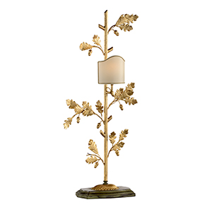 Gold One-Light Oak Leaf Lamp - Right