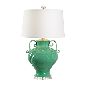Green One-Light Verona Lamp