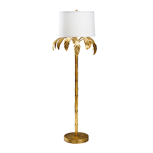 Bradshaw Orrell Gold One-Light Palm Floor Lamp