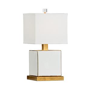 Pam Cain White One-Light Classic Block Lamp