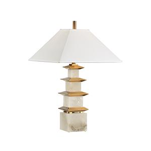 White One-Light Pagoda Lamp