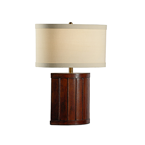 Mahogany One-Light Tempe Lamp