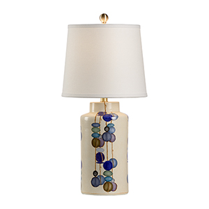 Multi-colored One-Light Large Kobe Vase Lamp