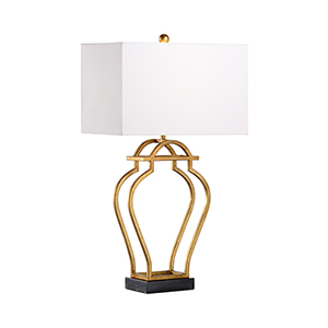 Jamie Merida Gold and Black One-Light Nanjing Lamp