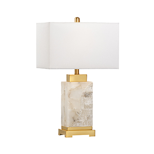 White One-Light Park Place Lamp