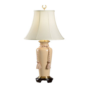 White One-Light 9-Inch Buff Crackle Lamp