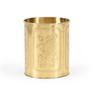 Brass 10-Inch Waste Basket