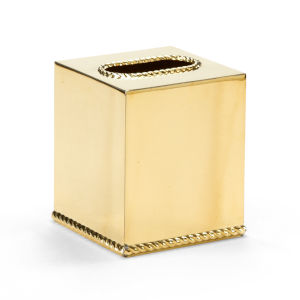 Brass 5-Inch Tissue Box Cover