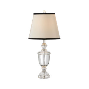 Silver One-Light 8-Inch Crystal Urn Lamp