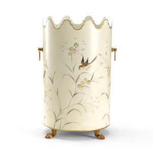 Aviary Cream Wastebasket
