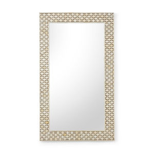 Elgon White and Brown Wall Mirror