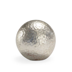 Silver Four-Inch Hammered Ball