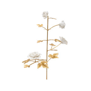 Gold and White Rose Stem