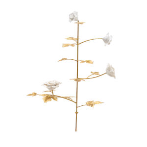 Gold and White Medium Rose Stem
