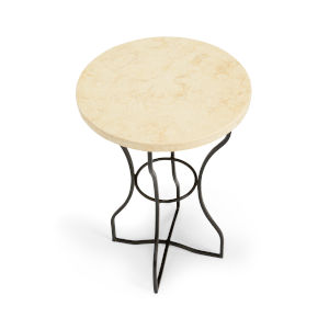 Boice Bronze and Natural Side Table
