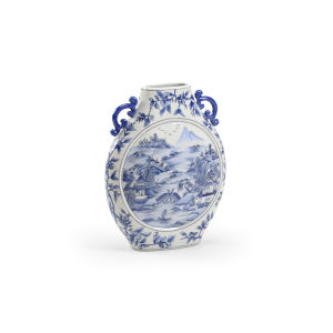 Moon Blue and White Vase