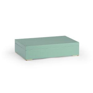 Granville Mint Green 16-Inch Decorative Box